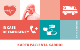 KARTA PACJENTA KARDIO IN CASE OF EMERGENCY
