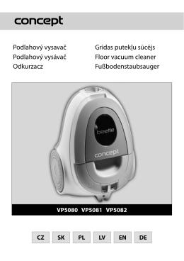 Návod - Concept Beetle VP-5081n zelený
