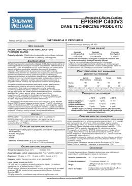 epigrip c400v3 dane techniczne produktu - Sklep