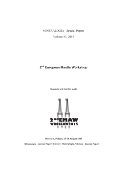 2nd European Mantle Workshop