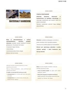 3. Materiały kamienne