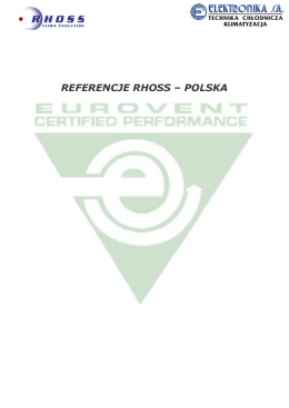 REFERENCJE RHOSS – POLSKA
