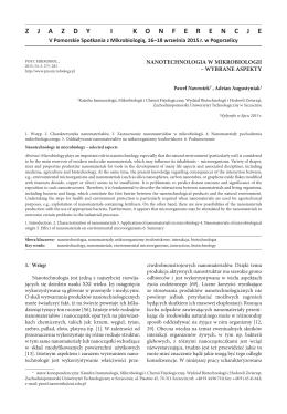 Nanotechnologia w mikrobiologii – wybrane aspekty