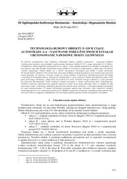 malordy j., frej g., kubista r. - VII Ogólnopolska Konferencja Mostowców