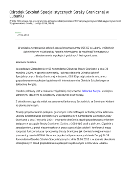 Generuj PDF z tej stronie - Straż Graniczna Ośrodek Szkoleń