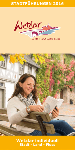 Broschüre Wetzlar individuell erleben