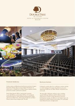 Pobierz folder konferencyny - DoubleTree by Hilton Warsaw