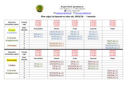 Plan zajęć na basenie w roku szk. 2015/16 - I semestr