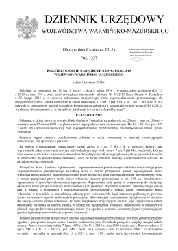 Rozstrzygnięcie nadzorcze Nr PN.4131.64.2015 z dnia 1 kwietnia