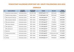 Kalendarz gimnazjów na rok szkolny 2015/2016