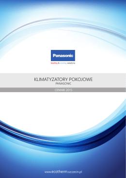 Cennik - Klimatyzatory pokojowe Panasonic 2015
