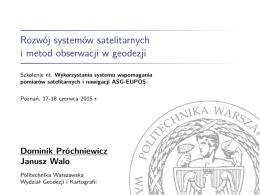 Rozwój systemów satelitarnych i metod obserwacji w