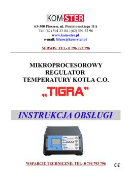 Tigra - instrukcja obsługi