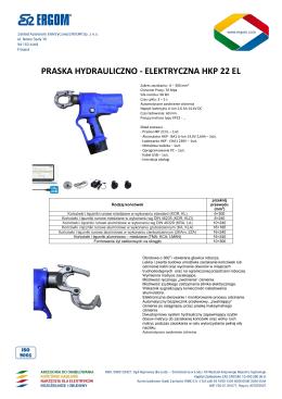 praska hydrauliczno - elektryczna hkp 22 el