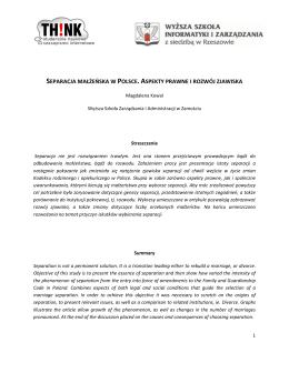 separacja małżeńska w polsce. aspekty prawne i rozwój zjawiska