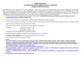 Szczegółowe zasady rekrutacji do ZSZ