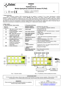 AWZ602 PoE4/4x1A/1,5 Moduł dystrybucji zasilania do