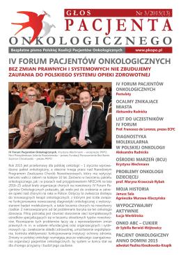 Głos Pacjenta Onkologicznego 3/2015