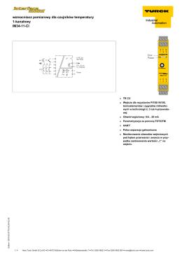 wzmacniacz pomiarowy dla czujników temperatury
