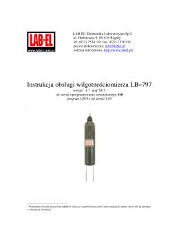 Instrukcja obsługi wilgotnościomierza LB–797 - LAB-EL