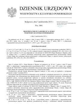 Rozstrzygnięcie nadzorcze Nr 92/2015 z dnia 5 października 2015 r.