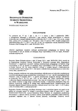 REGIONALNY DYREKTOR OCHRONY ŚRODOWISKA w