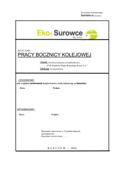 Regulamin Eko-Surowce sp. z o.o.