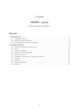 MAXIMA – tutorial