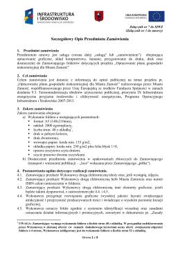 Załącznik nr 7 - Szczegółowy Opis Przedmiotu Zamówienia