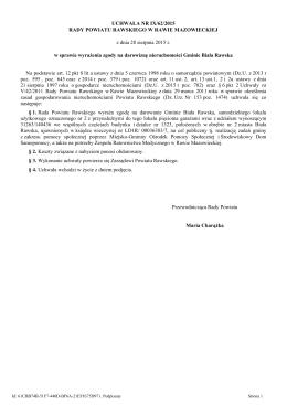 Uchwala Nr IX/62/2015 z dnia 28 sierpnia 2015 r.