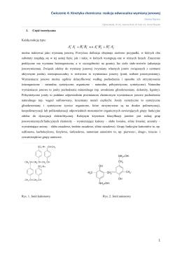 Ćwiczenie 4: Kinetyka chemiczna: reakcja odwracalna