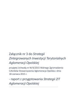 Załącznik nr 3 do Strategii ZIT Aglomeracji Opolskiej