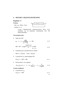 6. METODY CZĘSTOTLIWOŚCIOWE Regulator P