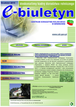 Nr 12 (85) - grudzień 2015 - Centrum Doradztwa Rolniczego w