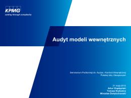Podejście do audytu modelu wewnętrznego