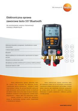 Elektroniczna oprawa zaworowa testo 557 Bluetooth