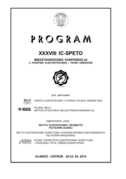 PROGRAM - IC-SPETO 2015