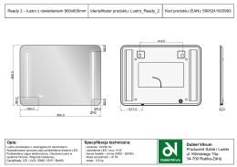 Ready 2 – lustro z oświetleniem 800x600mm Opis