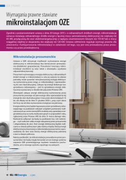 Wymagania prawne stawiane mikroinstalacjom OZE