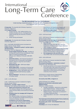 The 18th International Long-Term Care Conference