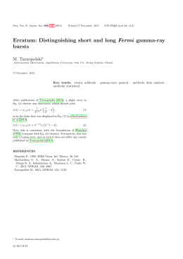 Erratum: Distinguishing short and long Fermi gamma