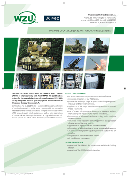 upgrade of 2k12 kub (sa-6) anti-aircraft missile system