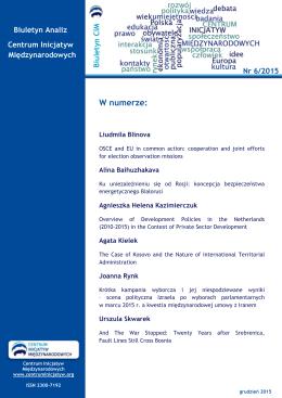 biuletyn-6 - Centrum Inicjatyw Międzynarodowych