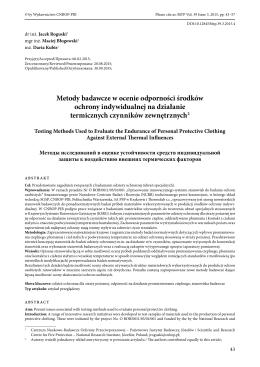Metody badawcze w ocenie odporności środków ochrony