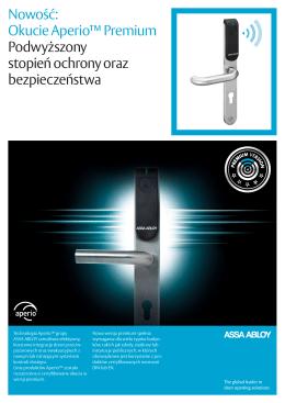 Nowość: Okucie Aperio™ Premium Podwyższony stopień ochrony