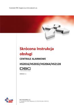 Instrukcja użytkownika skrócona DSC HS2016