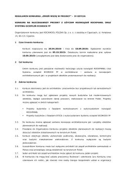 Regulamin konkursu Zmień wizję w projekt