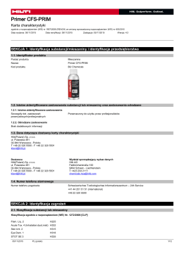 PDF Karta bezpieczeństwa produktu CSP 264, CFS-PRIM