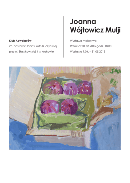 Joanna Wójtowicz Mulji