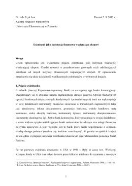 Eximbanki - Analizy Rynkowe